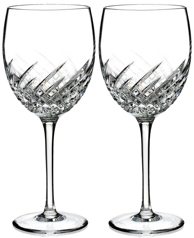 Waterford Essentially Wave Collection Goblet Pair