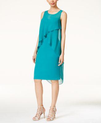 Thalia Sodi Ruffled Overlay Dress Only at Macys