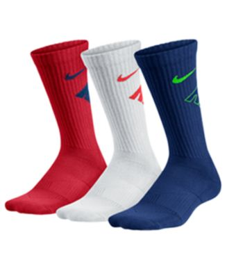 Image of Nike Boys' 3-Pack Graphic-Print Cotton Cushion Socks