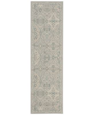"Nourison Andalusia AND04 Stone 2'2"" x 7'6"" Runner Rug"