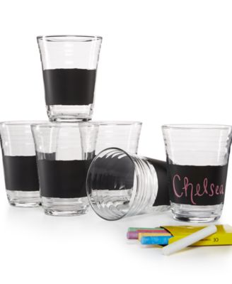 Luminarc Glass 12-Pc. Chalk & Chalkboard Party Cup Set