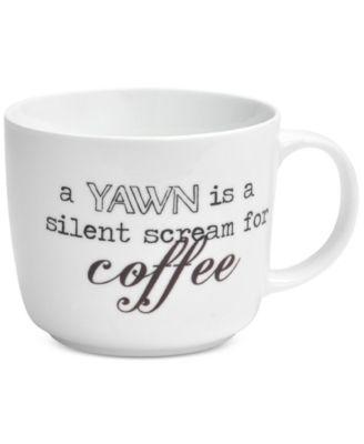 Pfaltzgraff A Yawn Is A Silent Scream For Coffee Mug