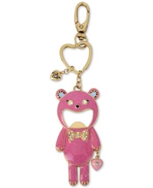 betsey johnson gold tone pink bear bottle opener keychain dealtrend. Black Bedroom Furniture Sets. Home Design Ideas