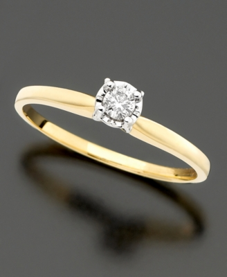 14k Gold Diamond Promise Ring (1/10 ct. t.w.)