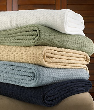 "Lauren Ralph Lauren ""Estate"" Cotton Blanket - Blankets & Throws Blankets & Throws - Bed & Bath - Macy's from macys.com"
