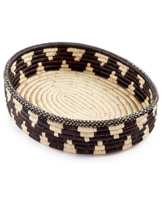 Rwanda Raffia and Sweet Grass Nebula Bread Basket