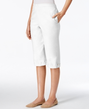 Alfred Dunner Petite Cuffed Pull-On Capri Pants $17.99 AT vintagedancer.com