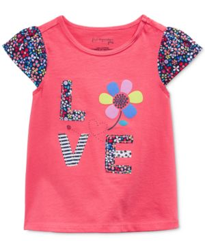 First Impressions Baby Girls' Flutter-Sleeve Love T-Shirt, Only at Macy's