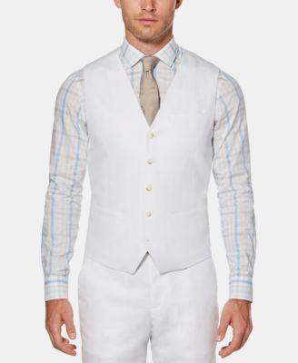 Men's Linen Solid Vest