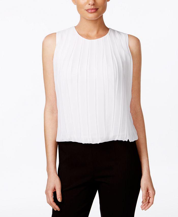Calvin Klein - Sleeveless Pleated Blouse