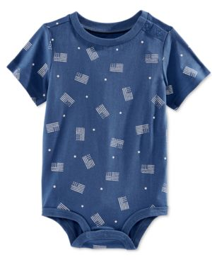 First Impressions Baby Boys' Flag-Print Bodysuit, Only at Macy's