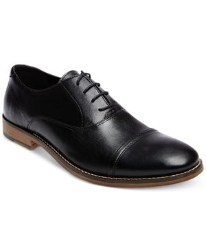 Steve Madden Men's Finnch Textured Oxfords Men's Shoes