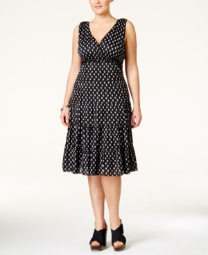 Style & Co. Plus Size Printed Tiered A-Line Dress, Only at Macy's