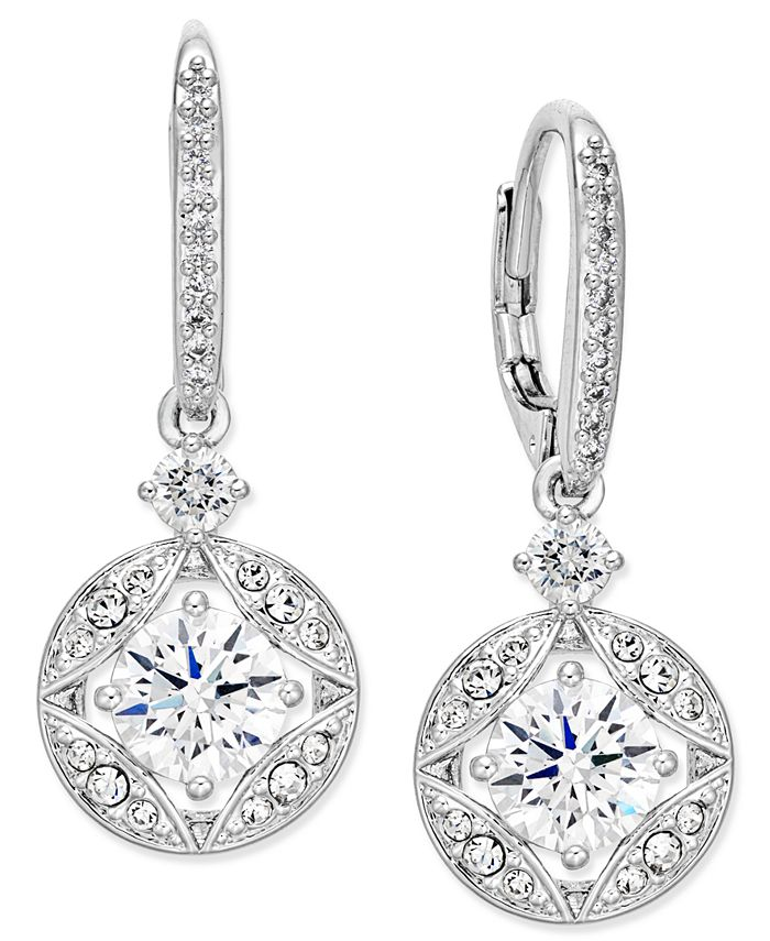 Eliot Danori - Silver-Tone Crystal Drop Earrings