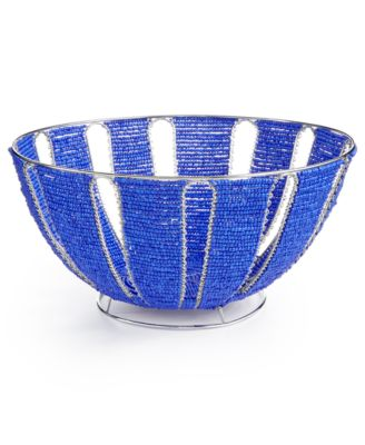 Global Goods Partners Solid Beaded Fruit Bowl