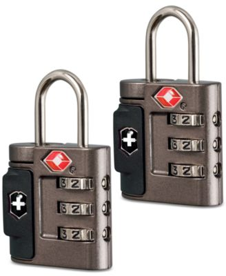Victorinox Swiss Army Set of 2 Luggage Combination Locks with Inspection Indicator