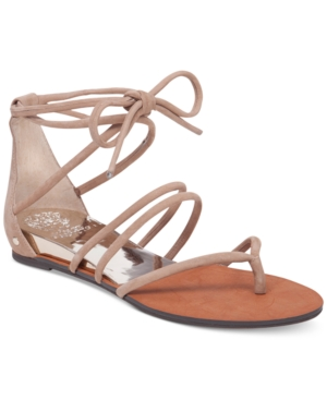 Vince Camuto Adalson Strappy Lace-Up Flat Sandals Women's Shoes