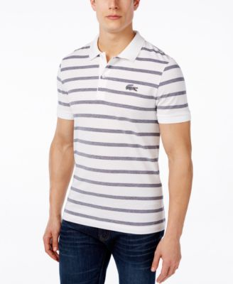 Image of Lacoste Men's Stripe Caviar Croc Polo