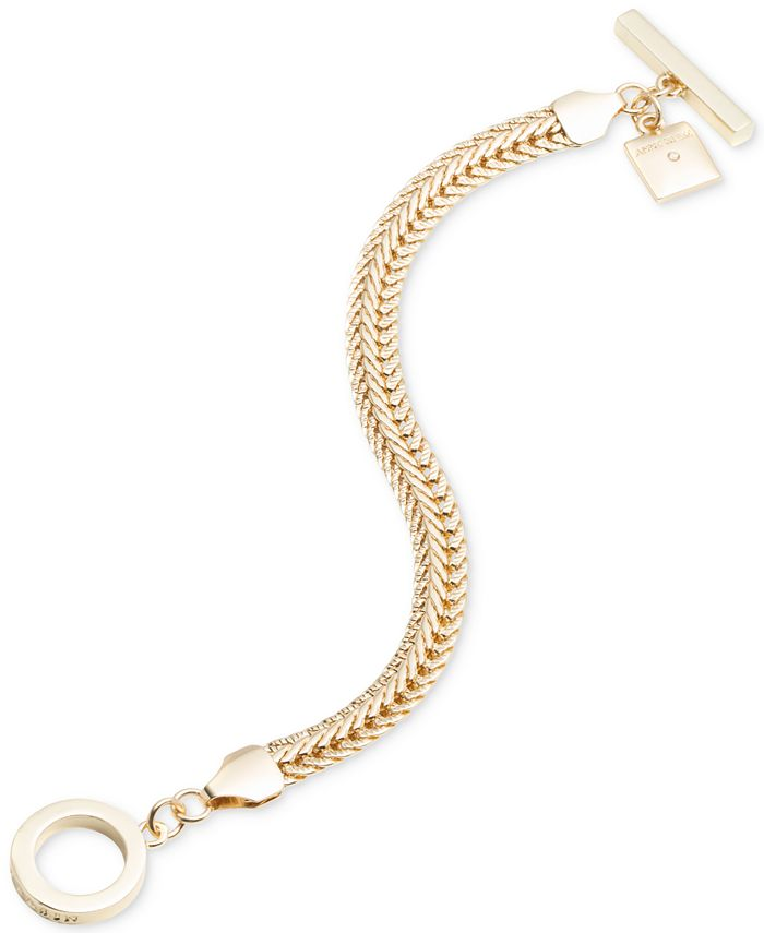 Anne Klein - Gold-Tone Flat Chain Toggle Bracelet