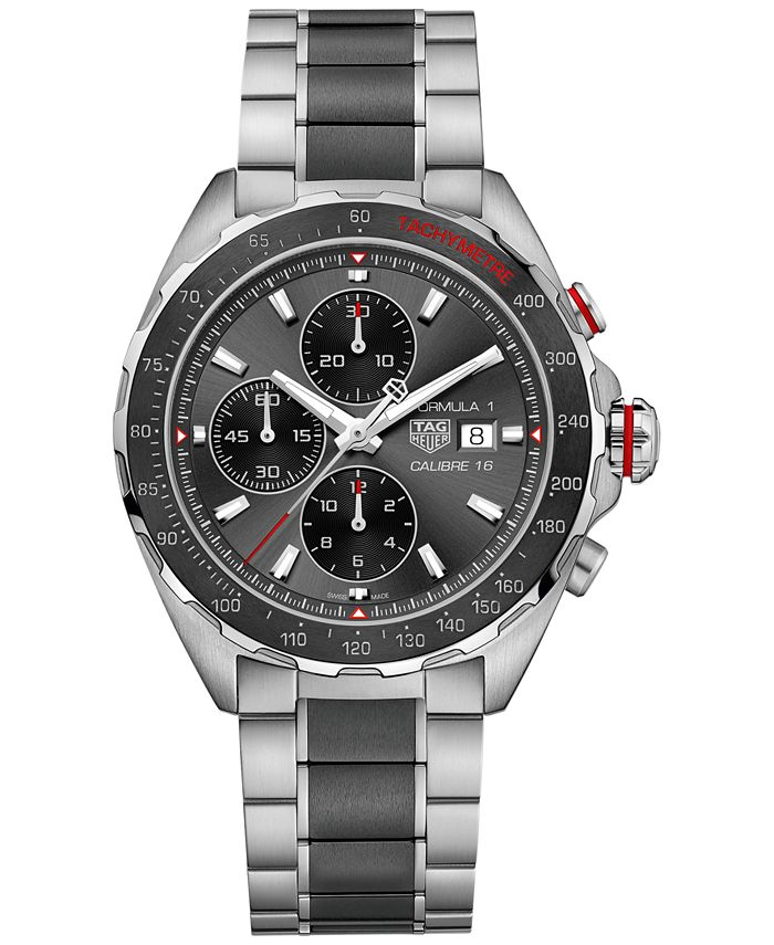 TAG Heuer - Men's Swiss Chronograph Formula 1 Calibre 16 Two-Tone Stainless Steel and Ceramic Bracelet Watch 44mm CAZ2012.BA0970