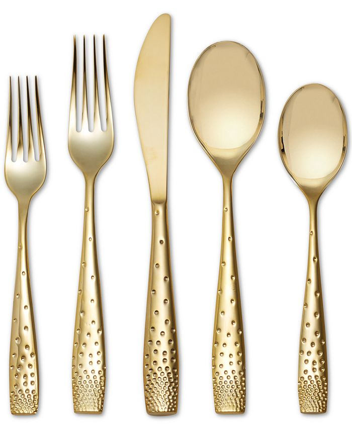 Nambé - Stainless Steel 5-Pc. Gold Place Setting