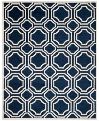 Safavieh Amherst Indoor/Outdoor AMT411P Navy/Ivory 3' x 5' Area Rug