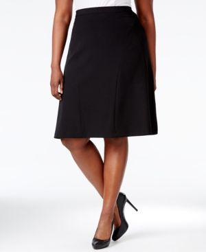Kasper Plus Size Fit & Flare Skirt