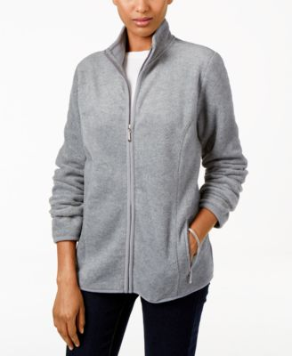 Image of Karen Scott Fleece Jacket, Only at Macy's
