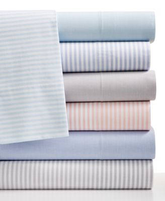 CLOSEOUT! Martha Stewart Collection Chambray 200 Thread Count Cotton Percale Queen Sheet Set, Only at Macy's