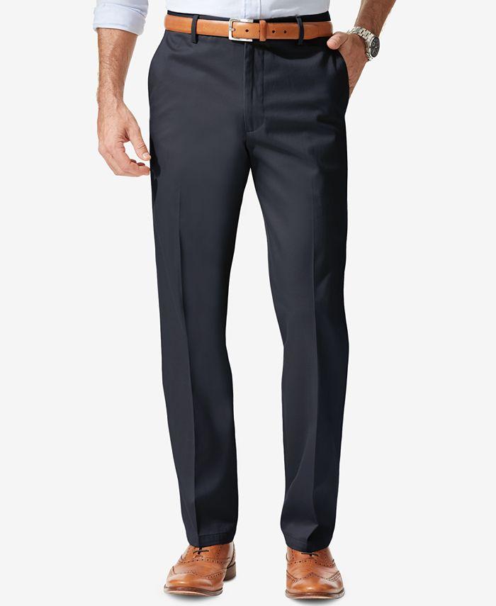 Dockers - Men's Signature Athletic-Fit Flat Front Khaki Pants