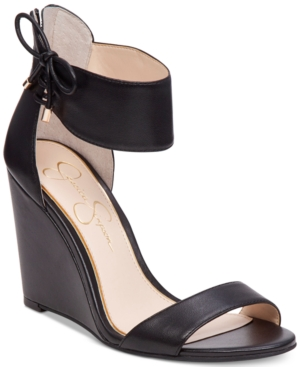Jessica Simpson Breeley Two-Piece Wedge Sandals Women's Shoes