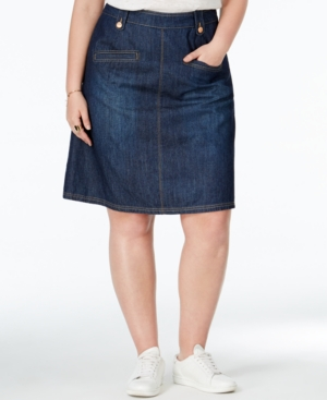 Rachel Rachel Roy Curvy Trendy Plus Size Denim A-Line Skirt plus size,  plus size fashion plus size appare