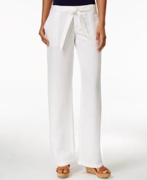 Tommy Hilfiger Belted Wide-Leg Pants plus size,  plus size fashion plus size appare