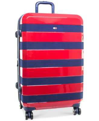 "Tommy Hilfiger Rugby Stripe 28"" Expandable Hardside Spinner Suitcase"