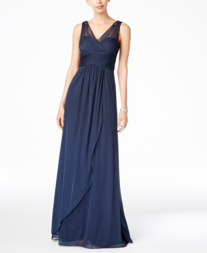 Adrianna Papell Ruched Embellished Gown $189.00 AT vintagedancer.com
