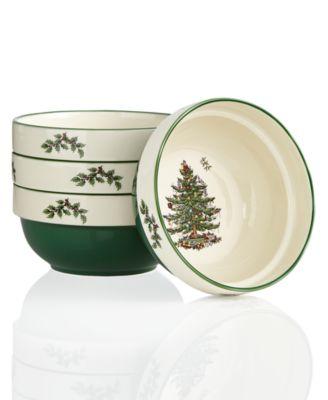 Christmas Tree Set of 4 Stacking Bowls