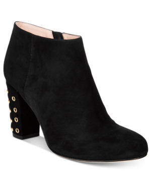kate spade new york Cirra Round-Toe Embellished Heel Booties Women's Shoes