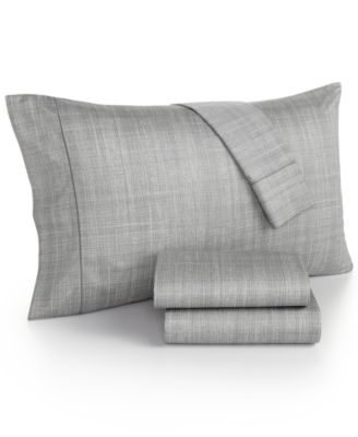 Hotel Collection Modern Plaid 525 Thread Count Queen Sheet Set, Only at Macy's