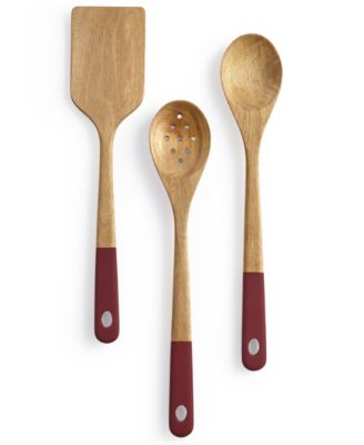 Martha Stewart Collection 3-Pc. Painted Acacia Wood Utensils, Only at Macy's