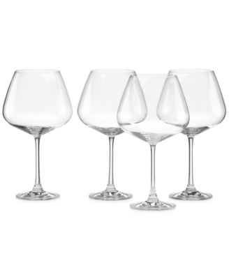 Lenox Stemware, Tuscany Burgundy Glasses, Set of 4