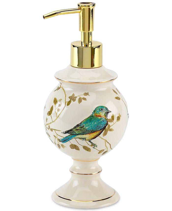 Avanti - Gilded Birds Soap and Lotion Dispenser