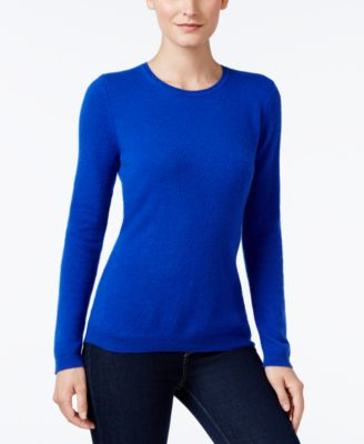 Image of Charter Club Cashmere Crew-Neck Sweater, Only at Macy's