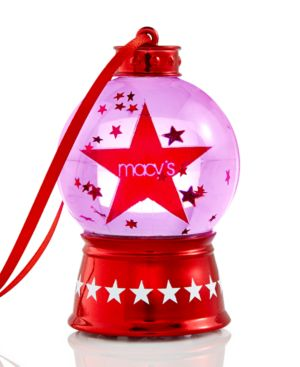 Holiday Lane Macy's Snow Globe Light Up Ornament, Only at Macy's