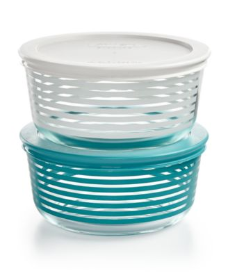 Pyrex Striped 4-Pc. Storage Set, Only at Macy's