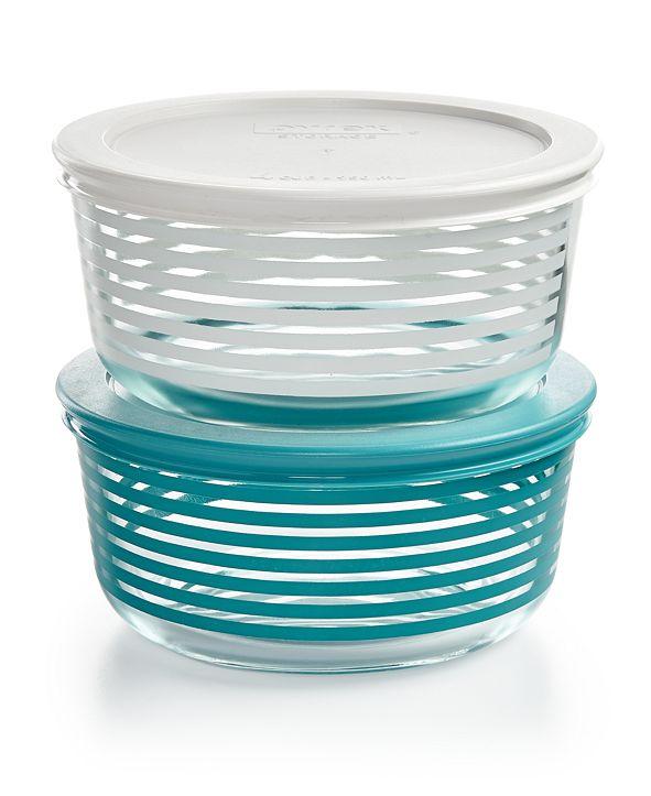 Corningware Pyrex Striped 4-Pc. Storage Set, Created for Macy's