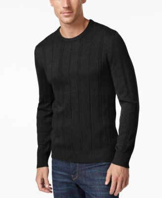 Image of John Ashford Men's Crew-Neck Striped-Texture Sweater, Only At Macy's