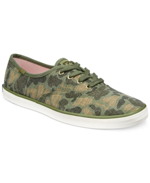 Keds Women's Camo Ripstop Lace-Up Sneakers Women's Shoes