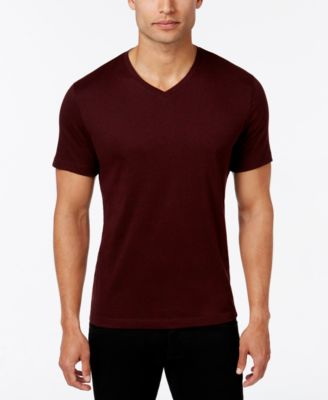 Image of Alfani Slim Fitted V-Neck T-Shirt