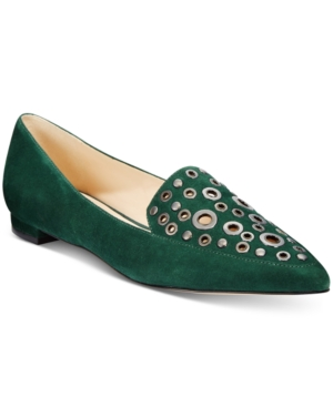 Nine West Akeelah Pointed-Toe Grommet Flats Women's Shoes