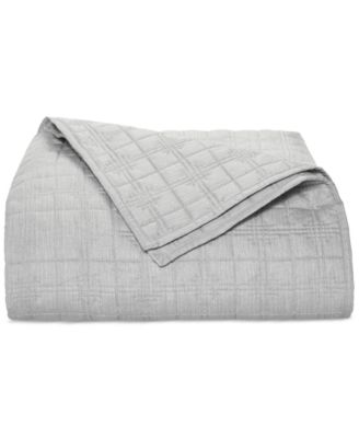 Hotel Collection Modern Plaid Full/Queen Coverlet, Only at Macy's